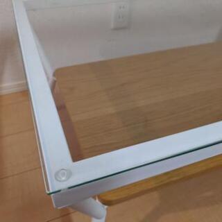 Francfranc ガラス ローテーブル ナチュラル - 家具