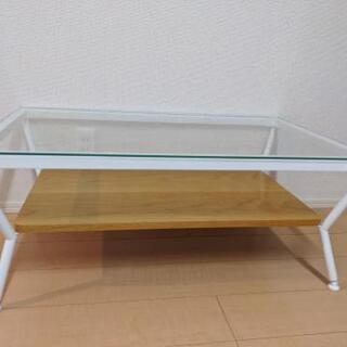 Francfranc ガラス ローテーブル ナチュラル - 川崎市