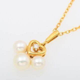 MIKIMOTO K18YG ベビーパール・ダイヤモンド ネックレス 品番B8-369 - 売ります・あげます