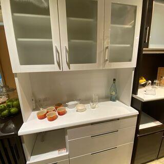 レンジボード ニトリ 白 収納棚 キッチン収納 中古品