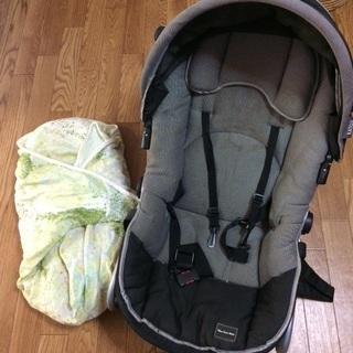 赤ちゃん用バウンサー 、おくるみのセット。出産準備に!