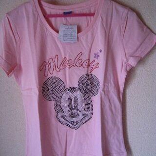 【新品・未使用】Disney ディズニー キラキラTシャツ ミッ...