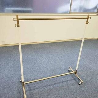 日本製 ハンガーラック 耐荷100kg 小型 ビンテージゴールド...