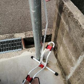 自転車 車輪止めの画像