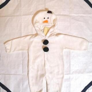 新品 なりきり 雪だるま ロンパース 70cm カバーオール  ...