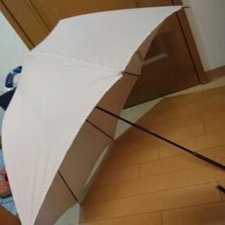 日傘 薄ピンク水玉のコンビ  リピーターさんは無料