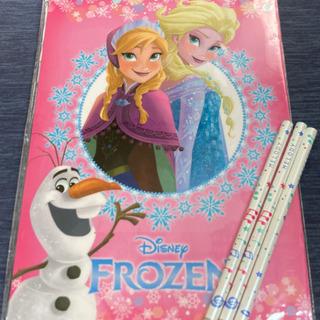 アナと雪の女王 下敷き 鉛筆3本