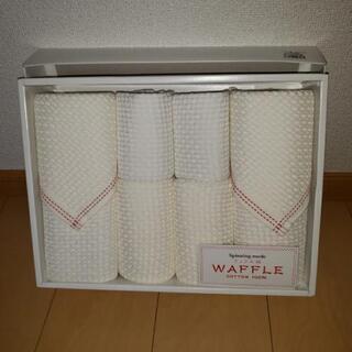 ワッフル織のタオル