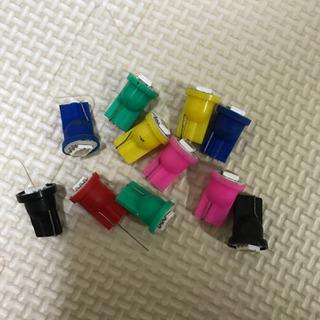 LEDバルブ T10 まとめ売り 赤 緑 黄色 青 黒