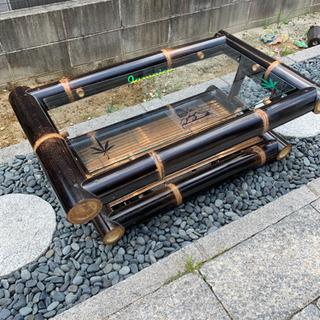 最終値引き‼️ブラック バンブー テーブル