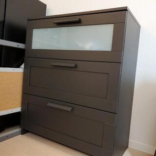 【美品】IKEAイケア チェスト たんす 黒ブラック