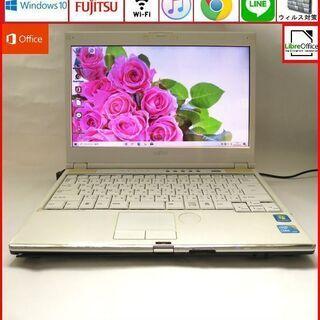 富士通 メモリ4GB HDD320GB ノートパソコン/wifi...
