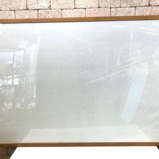 S85 【美品】額 額縁 木目調 大きめ フック付き 150cm幅