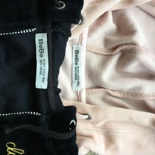 ベベ BeBe ノースリーブ パーカー ピンクとブラック2点セット 80 美品 - 下関市