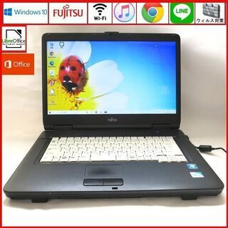 富士通 メモリ2GB HDD320GB ノートパソコン/wifi...