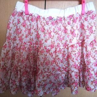 花柄レーススカート