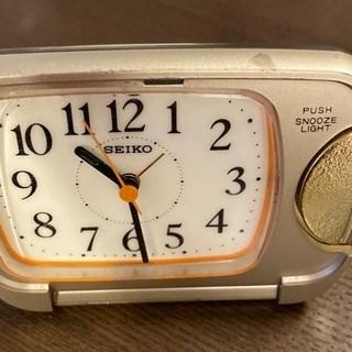 SEIKOの目覚まし時計差し上げます