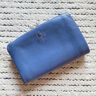 ランバンオンブルー LANVIN がま口 2つ折り財布