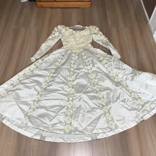 中古ウエディングドレス パーツ取り向き バブル風
