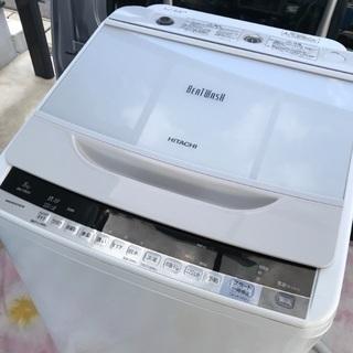 取引中2016年製日立全自動洗濯機容量8キロ美品。千葉県内配送無...