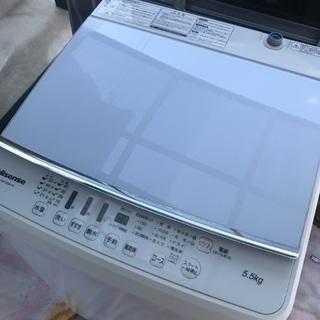 取引中2018年製ハイセンス全自動洗濯機容量5.5キロ。千葉県内...