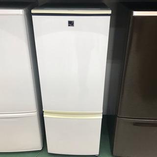 〈〉シャープ  15年式 2ドア 冷蔵庫 SJ-17E2-KB 白