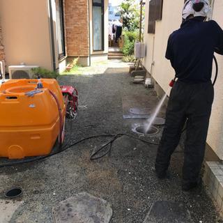 家周り店舗、下水の高圧洗浄格安施工します😊