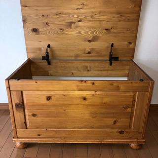 ナチュラル系木製収納ボックス