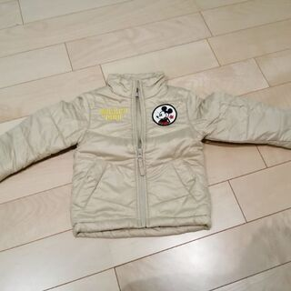 ミッキーワッペン付きコート(上着)サイズ90