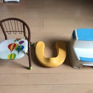 子ども椅子とトイレの便座など3点
