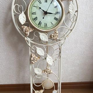 【シャビーシック】おしゃれな壁掛け振り子時計
