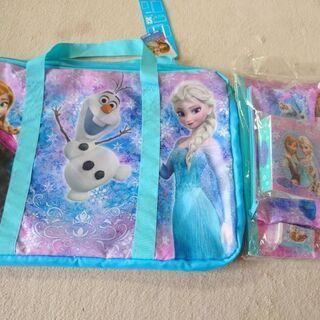 アナと雪の女王のバック付き文具セット