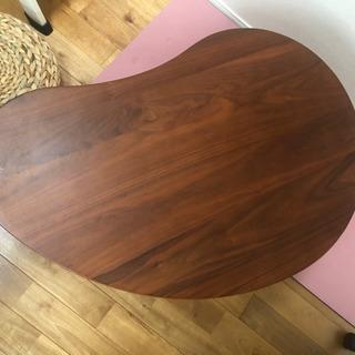 そら豆型の机 テーブル サイドテーブル