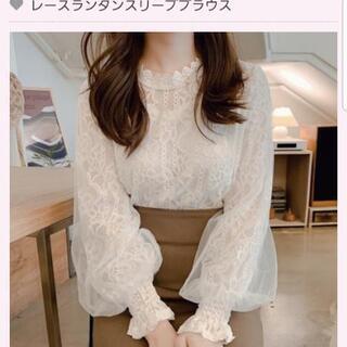 レースランタンスリーブブラウス★定価¥3980の画像