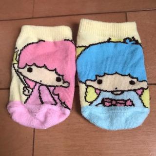美品 キキララ 新生児用靴下