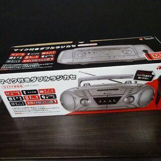 未使用 Touch マイク付ダブルラジカセ TC-DR2AT