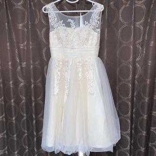 【使用1日のみ・クリーニング済】白ドレス