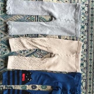 綿混あったか女児タイツのセット 90〜95