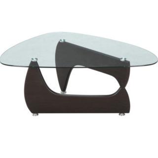 定価の半額以下です。不二貿易センターガラステーブル。