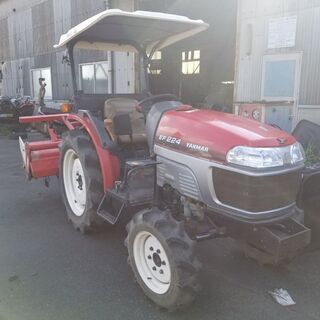 ☆鹿児島発☆ヤンマー EF224 トラクター ロータリー付 4W...