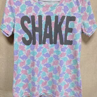 猫 パステル シャツ 可愛い 半袖 Tシャツ Mサイズ