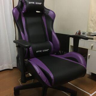 【美品】GTRACING ゲーミングチェア 紫(GT002-PU...