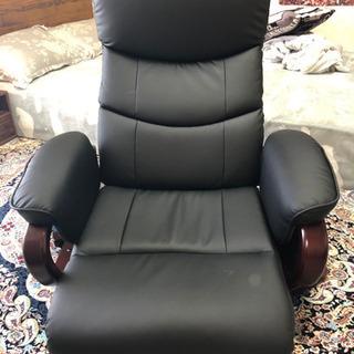 天然木回転高級座椅子の画像