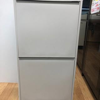 【リサイクルサービス八光 田上店】ホワイト 2段ダストBOX