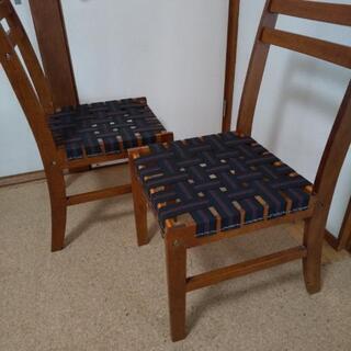 ★大幅値下げ★ 椅子 2脚 ウェービングテープで改良