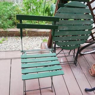 ガーデンテーブル チェア2客