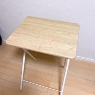山善 折りたたみ式 サイドテーブル