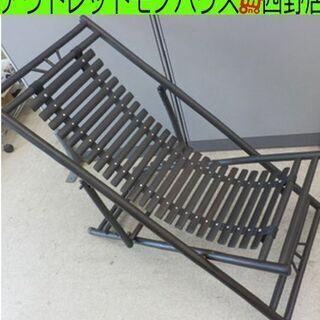 ▶デッキチェア 折りたたみ式 木製 リクライニング 3段階 ウッ...