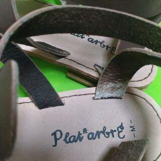ペタンコサンダル 茶 - 靴/バッグ