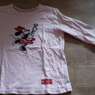 ミニーマウス ロングTシャツ 薄ピンク 三枚組 👕 - 子供用品